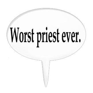 El sacerdote peor nunca figura para tarta