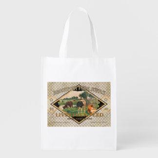 El saco de la alimentación del vintage, Brookport Bolsa Reutilizable
