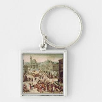 El saco de Lyon por el DES Adrets del barón Llavero Cuadrado Plateado