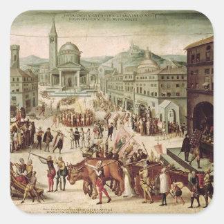El saco de Lyon por el DES Adrets del barón Pegatina Cuadrada