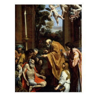 El sacramento pasado de St Jerome, 1614 Tarjeta Postal