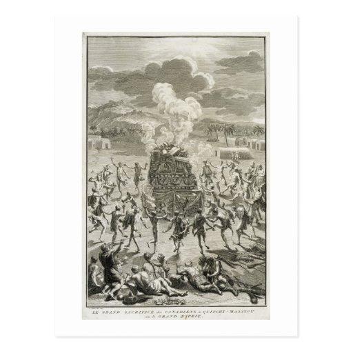 El sacrificio a Quitchi-Manitou, o el gran Spi Postales