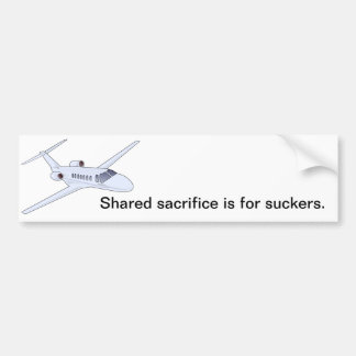 El sacrificio compartido está para los lechones pegatina para auto