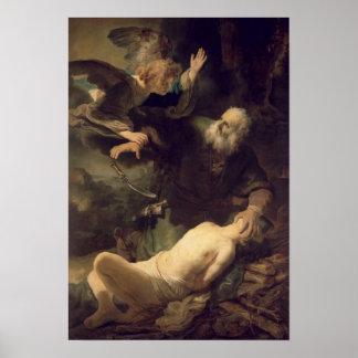 El sacrificio de Abraham, 1635 Posters