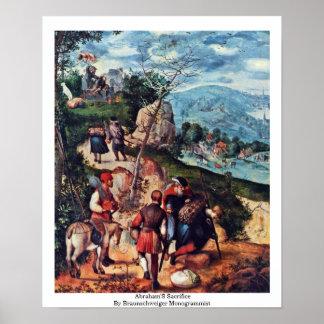 El sacrificio de Abraham de Braunschweiger Monogra Posters