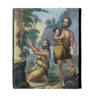 El sacrificio de Caín y de Abel, de una impresión