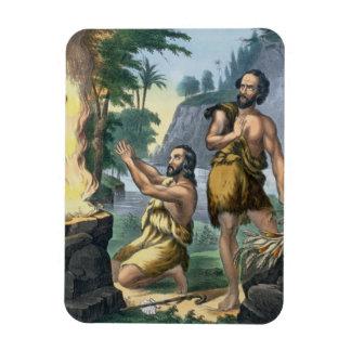 El sacrificio de Caín y de Abel, de una impresión  Iman