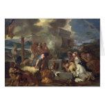 El sacrificio de Noah, c.1640 Tarjeta De Felicitación