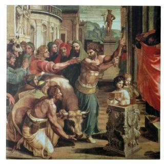 El sacrificio en Lystra (dibujo animado para el Si Azulejo Cuadrado Grande