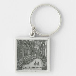 El Sacrosanto Concilio General de Trento Silver-Colored Square Keychain