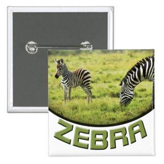 El safari de la fauna de la cebra y del potro de l pin cuadrado