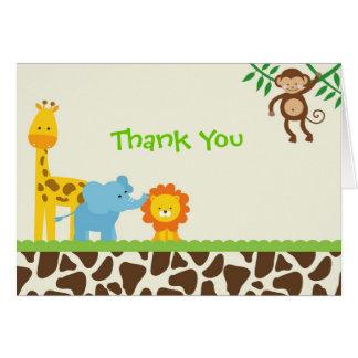 El safari de selva le agradece las tarjetas de not