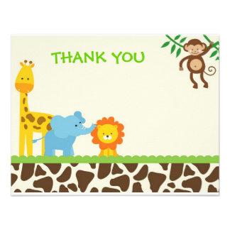 El safari de selva le agradece las tarjetas de not anuncio personalizado