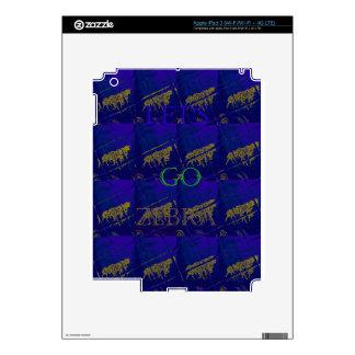 El safari del azul francés deja para ir cebra pegatina skin para iPad 3