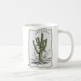 El Saguaro gigante de Arizona Taza Básica Blanca