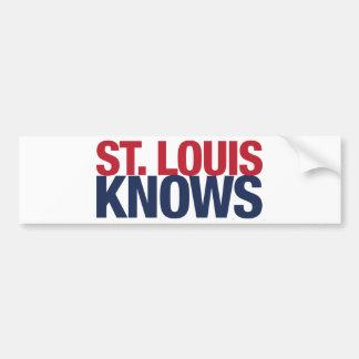 El Saint Louis sabe Pegatina Para Auto