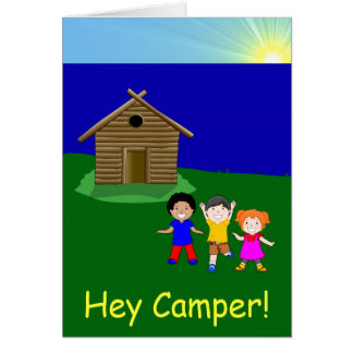 El salir acampar tarjeta