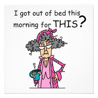 El salir del humor de la cama anuncio