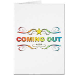 el salir: flourish del arco iris tarjetón