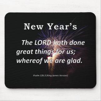 El salmo 126-3 del Año Nuevo Alfombrilla De Ratón