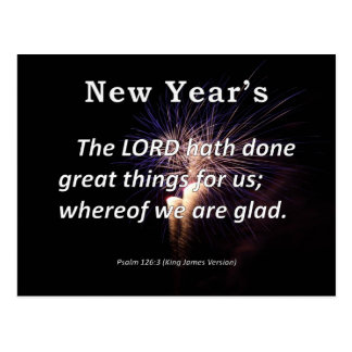 El salmo 126-3 del Año Nuevo Tarjeta Postal