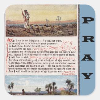 El salmo 23, el señor es mi pegatina del rezo del