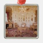 El salón Chinois, c.1740 Adorno Navideño Cuadrado De Metal