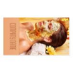 El salón de belleza/el masaje/se relaja/tarjeta de plantilla de tarjeta personal