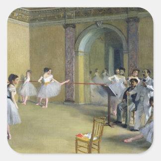 El salón de la danza pegatina cuadrada