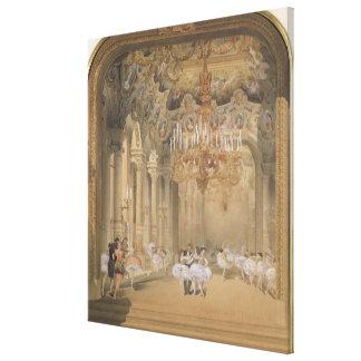 El salón de la ópera durante el intervalo impresión en lienzo estirada