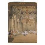El salón de la ópera durante el intervalo tarjeta de felicitación