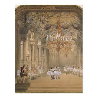 El salón de la ópera durante el intervalo postal