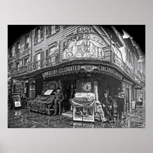 EL SALÓN DE ROEBER - MANHATTAN - 1908 PÓSTER