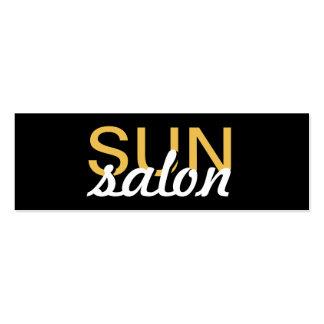 el salón del sol manicures la tarjeta de sacador tarjetas de visita mini