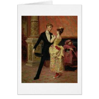 El salón del teatro del liceo (aceite en lona) tarjeta de felicitación