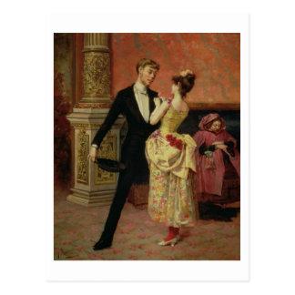 El salón del teatro del liceo (aceite en lona) tarjetas postales