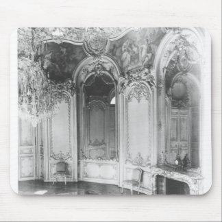 El salón oval adornado con la historia de tapete de ratón