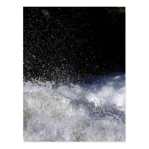 El salpicar de los Rapids de la espuma de los ríos Tarjeta Postal