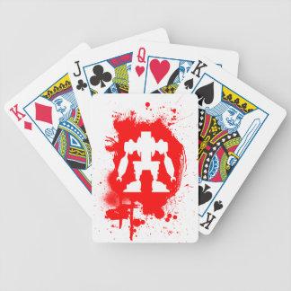 El salpicar del Bot Baraja Cartas De Poker