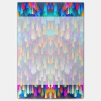 El salpicar digital colorido del arte de las notas