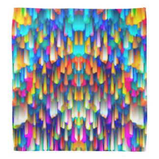 El salpicar digital colorido del arte del pañuelo bandana