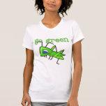 El saltamontes va las camisetas y los regalos verd