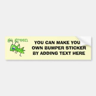 El saltamontes va las camisetas y los regalos verd pegatina para auto