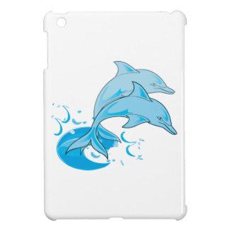 El saltar azul de dos delfínes de Bottlenose del a
