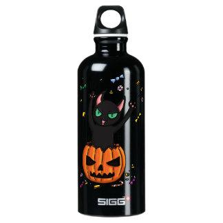 El saltar del gato negro de Halloween de una