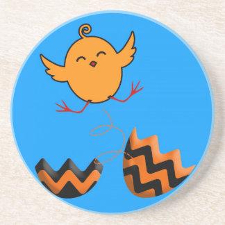 ¡El saltar del polluelo de Pascua del huevo - lind Posavasos Personalizados