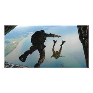 el saltar especial del grupo de las táctica 720h d tarjeta personal con foto