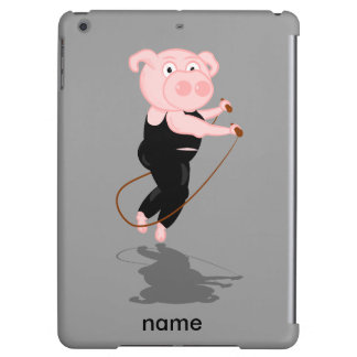 El saltar gordo lindo del cerdo