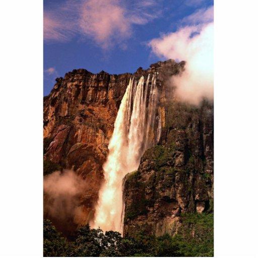 El Salto Ángel en Auyan Tepui, Venezuela Fotoescultura Vertical