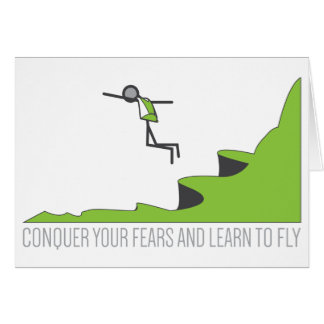 El salto BAJO aprende volar Tarjeta De Felicitación